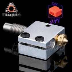 Trianglelab 3D Drucker Volcano Heizung Block + Hohe qualität Düse + wärme breaker für 3D drucker Für E3D Hotend DIY 3D Drucker