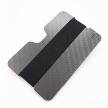 Deft design Carbon Fiber RFID Blocking Money Band Credit Card Holder Slim Wallets Business Card Holders Durable Carbon Case Pu