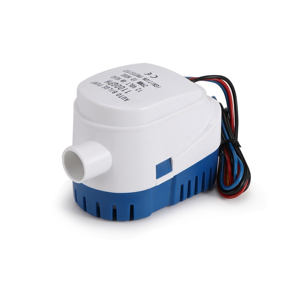 600GPH 750GPH 1100GPH Automatic Boat Bilge Pump 12v 24v Auto Water Pump Submersible DC 12 24 Volt Motor Seaplane Homes Houseboat