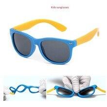 Солнцезащитные очки для мальчиков и девочек, детские солнцезащитные очки, детские очки, поляризованные линзы для девочек и мальчиков, Tr90, силиконовые зеркальные детские очки