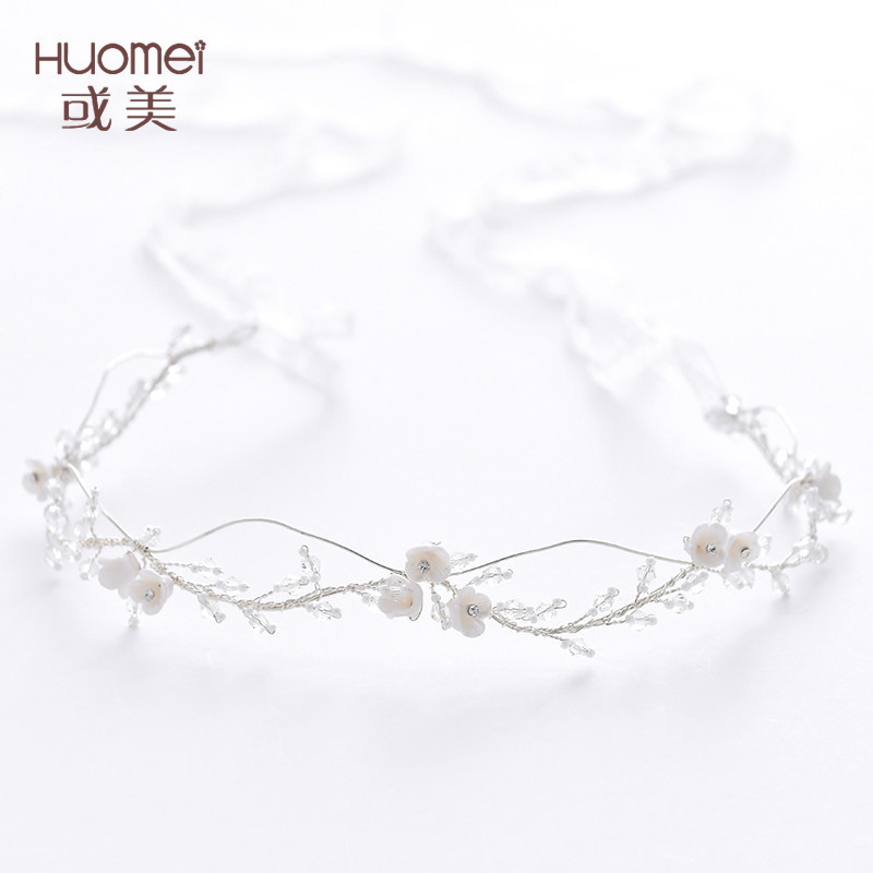NPASON Fashion Hair Bride Headwear Claw Chain Knot Marriage Hair Band Wedding Dress Photograph Accessories 2019 Ornaments D2212
