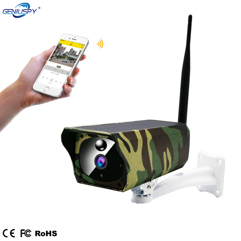 2MP Solar Battery Outdoor Waterproof Camouflage Wifi IP Farm Camera Night Vision Surveillance CCTV Security 2 Way Audio TF Card