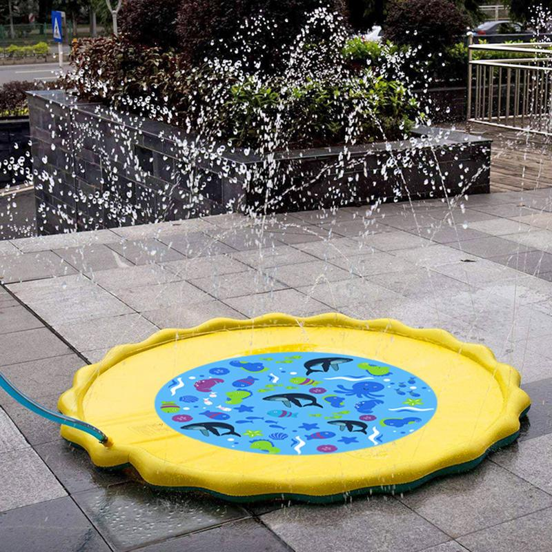 Water Sprinkler Spray Mat Children's Lawn Play Mat PVC Inflatable Water Spray Toy