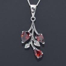 Fashion Garnet Necklace Women Natural Stone Silver Charms Bijoux Femme Choker Jewellery Collares De Moda 2019 stylish natural health promoting garnet necklace 40cm