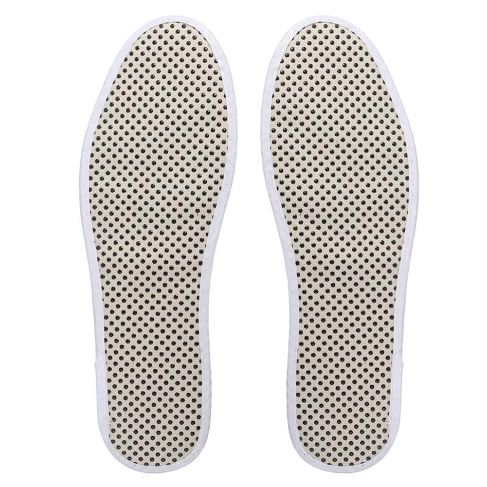 1 Pair Tourmaline Self Heated Insoles Heating Magnetic Foot Massage Insole Far Infrared Warm Shoe Pad Comfortable Sweat Insoles