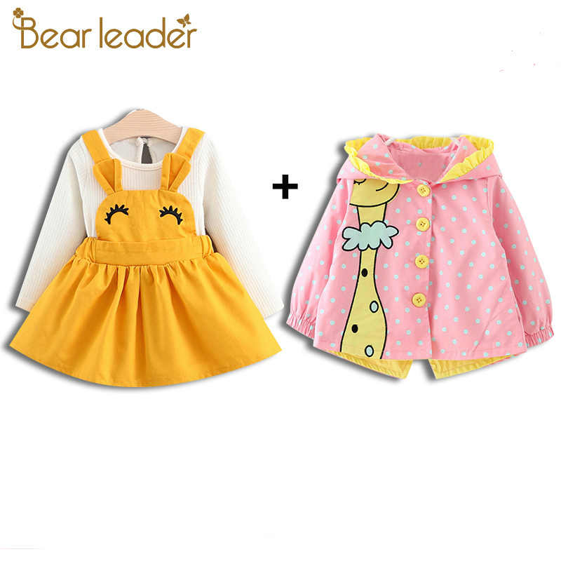 53a7012d4 Bear Leader Baby Jackets Autumn Kids Coats Jackets Clothing Baby girl  Clothes Cartoon Coats dots hooded