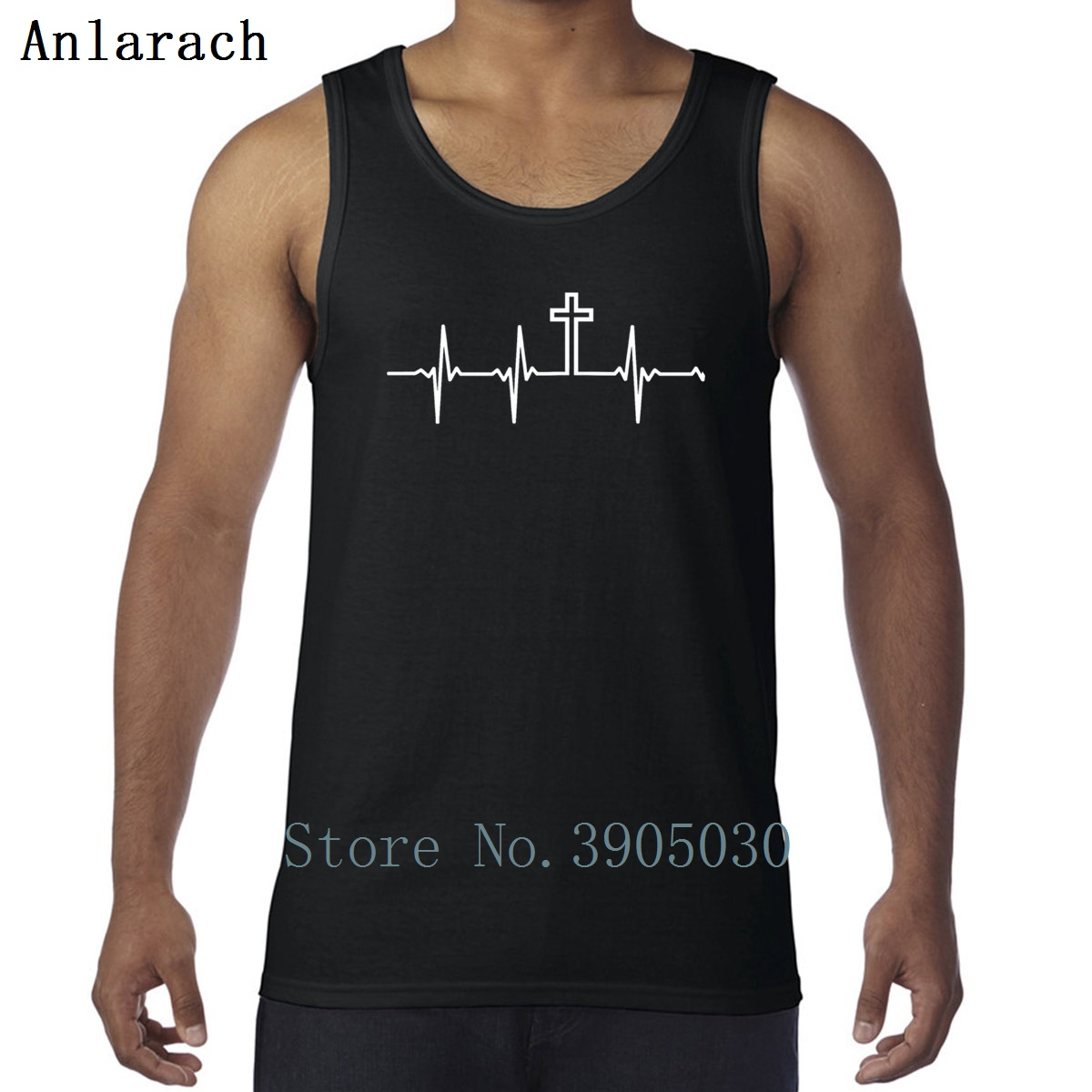6738f83ff8a0 Cheap Tank Tops, Buy Directly from China Suppliers:Christian My Heartbeat  Is The Cross