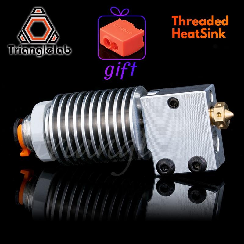 V6 Threaded HeatSink V6 Volcano Hotend Remote Bowen V6 Volcano Hotend J-head Hotend HeatSink Heater Block Heat Break For E3D