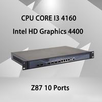 Брандмауэр Mikrotik Pfsense VPN устройство сетевой безопасности маршрутизатор ПК Intel Core I3 4160, [HUNSN RS19], (4LAN/2USB/1COM/1VGA)