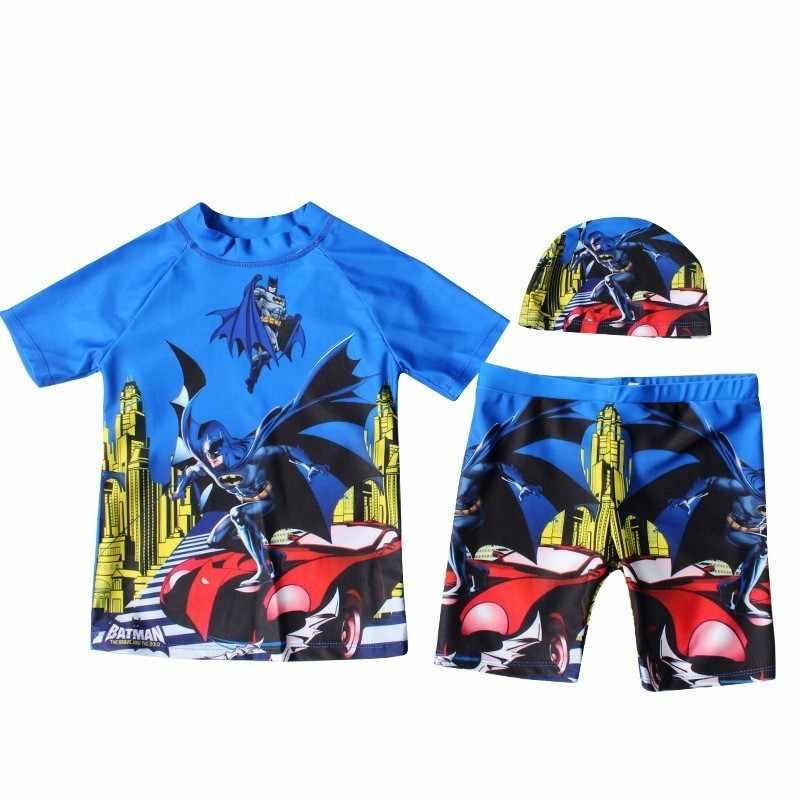 Anak Renang Kartun Ruam Penjaga Bayi Laki-laki Kolam Renang Cap Lengan Pendek Celana Pendek Celana Anak Renang Suit anak-anak Baju Renang