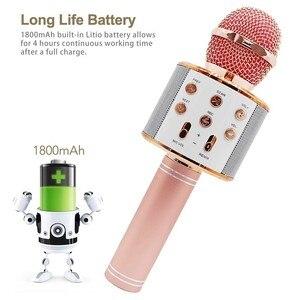 Image 4 - Ssmarwear WS 858 karaoke microfono senza fili altoparlante bluetooth microfono per il telefono del computer di registrazione youtube casa karaoke mic