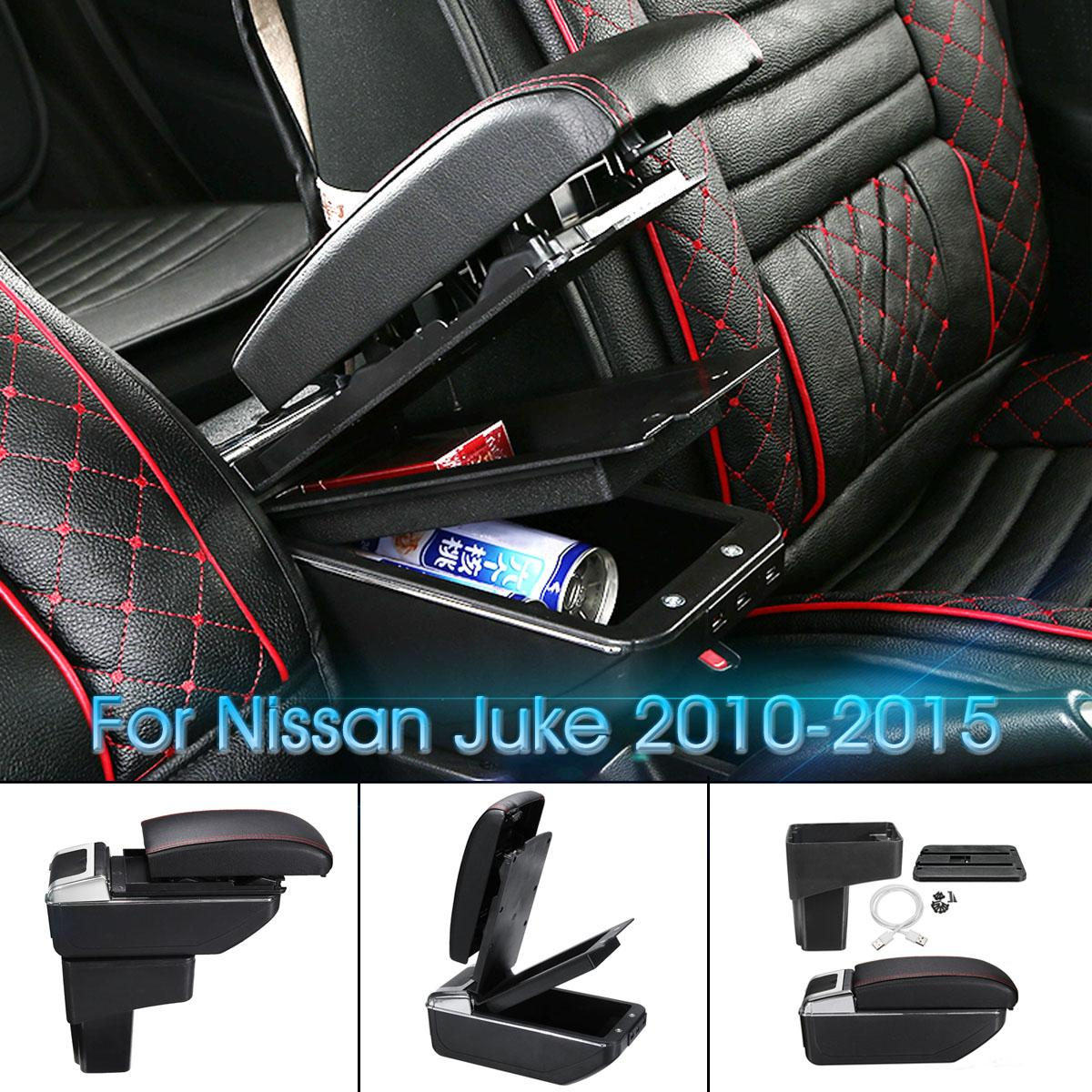 Car Armrest Box Leather Central Store Content Box Black Cup Holder For Nissan Juke 2010-2015 Car AccessoriesCar Armrest Box Leather Central Store Content Box Black Cup Holder For Nissan Juke 2010-2015 Car Accessories