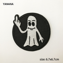 Punk embroidery popular Embroidered Iron on stickers DIY individual personality Clothing