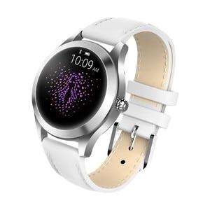 Image 3 - Moda inteligentny zegarek kobiety KW10 IP68 wodoodporna wielu trybów sportowych krokomierz z pomiarem akcji serca bransoletka Fitness dla pani