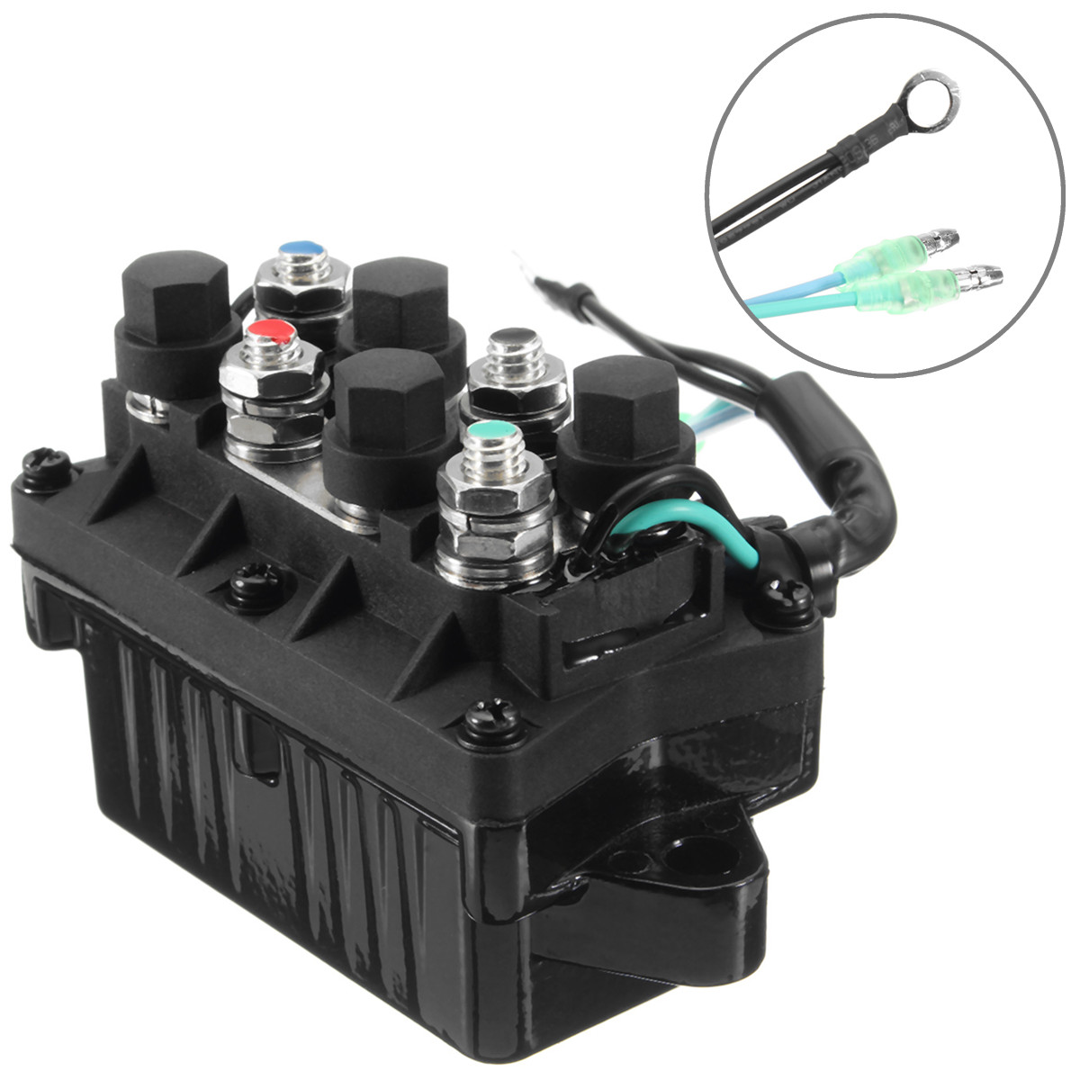 6H1-81950-00-00 3 Pin 12 В +-20% отделкой реле Лодка двигатель мощность для Yamaha 30-90HP двигатели автомобиля 120A водостойкие алюминий, бронза + пластик