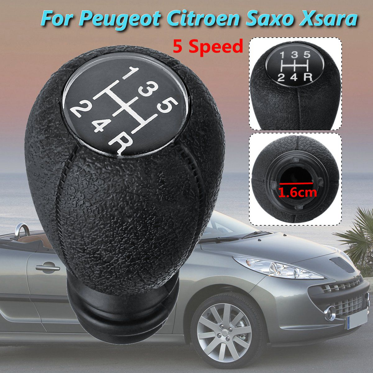 hight resolution of 5 speed gear shift knob stick for peugeot 106 107 205 206 207 306 307 308
