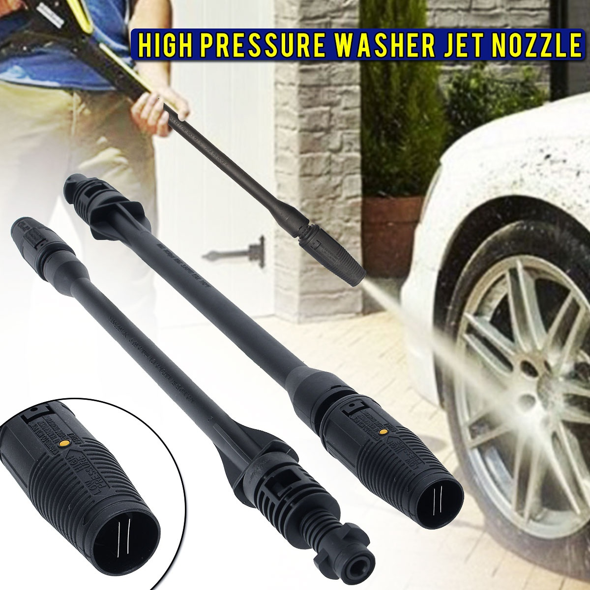 Car Washer Jet Lance Nozzle for Karcher K1 K2 K3 K4 K5 K6 K7 High/Low Pressure 160bar Car Washing Tools Garden Water Jet Washer