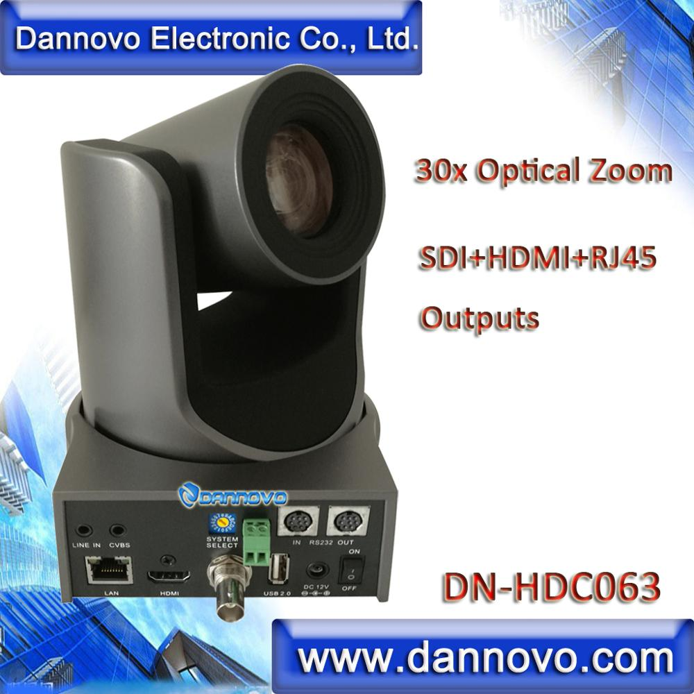 Livraison gratuite: DANNOVO 30x Zoom optique H.265 en direct IP Streaming caméra SDI, prise en charge HDMI, IP RJ45, Audio, ONVIF (DN-HDC063)