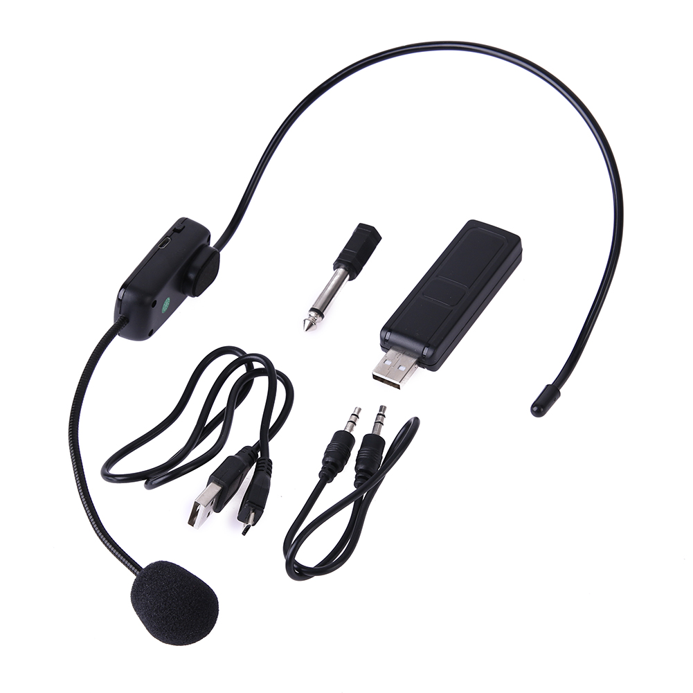 UHF Wireless Microphones Stage Wireless Headset Microphone System Mic For Loudspeaker Teaching Meeting Tour Guide Stage Karaok