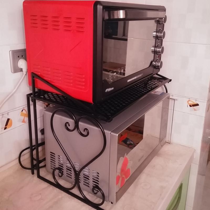 Microwave Oven Rack Kitchen Storage Rack Foldable Design Seasoning Clapboard