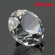 60 мм прозрачный большой K9 кристалл алмаз стекло домашнего искусства пресс-папье ремесло драгоценные камни декор свадебный орнамент коллекция фэн-шуй подарок