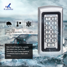 Realhelp Access control system Card Reader 3 10cm 125khz IP68 metal reader Standalone Access Control Keypad Code entrance guard