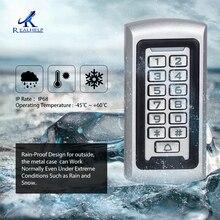 Sistema de controle de acesso realaid, leitor de cartão 3 10cm 125khz ip68 leitor de metal, código de teclado inteligente de controle de acesso protetor de entrada