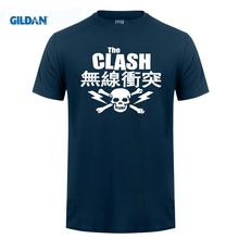 GILDAN Cool Slim Fit Letter Printed Gildan Christmas The Clash Skull And Crossbones O-Neck Short-Sleeve Shirt
