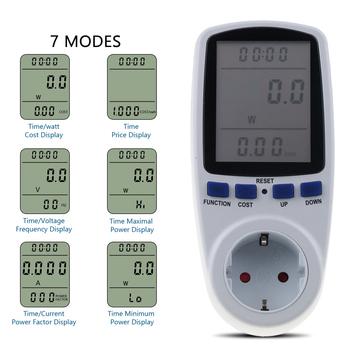 EU Plug cyfrowy watomierz elektroniczny miernik mocy licznik energii pomiar gniazdo wyjściowe analizator miernika mocy tanie i dobre opinie WHDZ Elektryczne 230 v Analogowe i cyfrowe 15 50 x 7 00 x 3 50 cm 6 1 x 2 76 x 1 38 inches