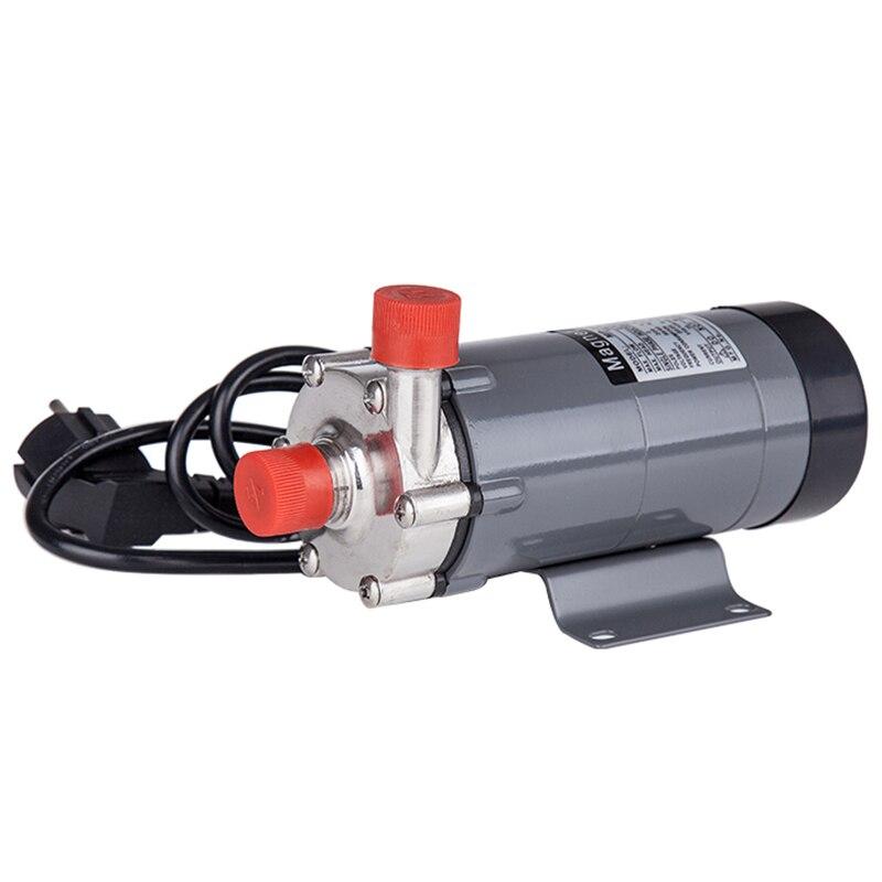 Pompe d'entraînement magnétique de prise de l'ue 15R avec la tête 304 d'acier inoxydable, brassage de bière, prise européenne 220V avec le fil 1/2Npt - 3
