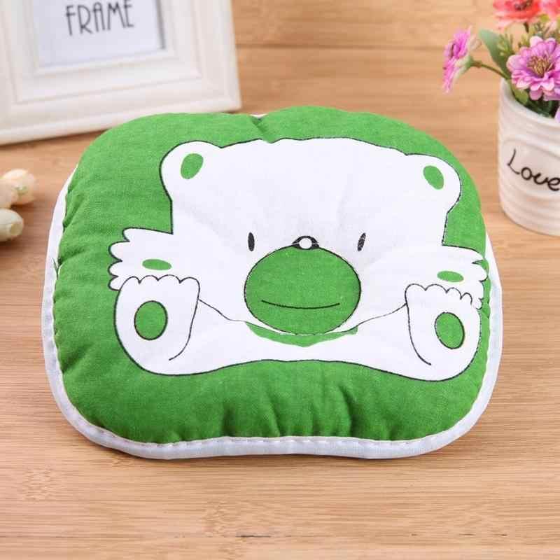 Форменная Подушка на голову для новорожденных, с рисунком медведя, подстилка для наволочки, предотвращающая плоскую детскую Подушка для новорожденных, постельные принадлежности, новинка