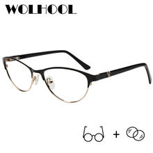Classic Alloy Oval Prescription Eyeglasses Women Optical Pro