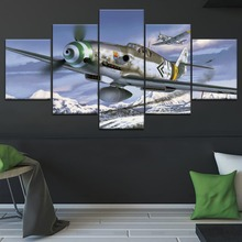 5 Panel Messerschmitt Bf 1 Military War Canvas Printed Painting For Living Room Wall Decor HD Picture Artworks Poster5