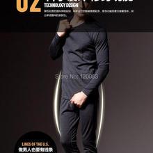 Легкая мужская австралийская мериносовая шерсть нижнее белье, мужское белье из мериносовой шерсти, лыжное белье из мериносовой шерсти, 200GSM Джерси