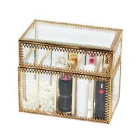 Makeup Organizer Glass Lipstick Storage Box Cosmetic Table Top Makeup Storage Rack Lipstick Holder Home Decoration Accessories