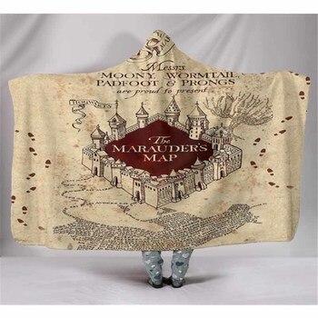 3D Fleece Hogwarts Hoodie Blanket 1