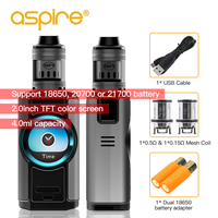 Original Electronic Cigarette Aspire Dynamo Vape Kit with 4ml Nepho Tank Vaporizer 220W Mod 2 inch TFT Screen pk X PRIV Kit