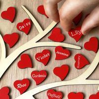 Красное сладкое сердце Свадебные книга для подписей посетителей Дерево DIY деревянный Свадебная вечеринка украшения поставки сердце Гостев...