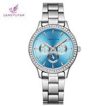 цена на JIANGYUYAN Casual Women Watches Silver Womens Watches Brand Luxury Fashion Ladies Watch Quartz Gifts For Women Clock Wristwatch