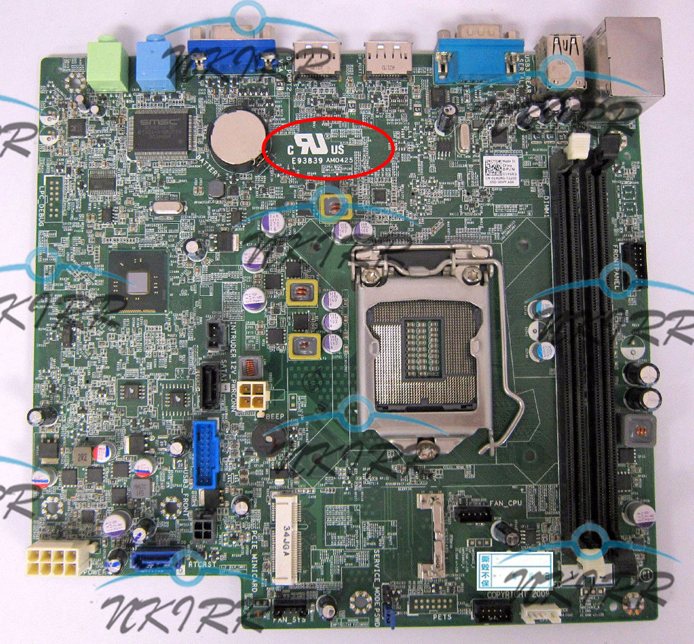 E93839 AM0425 KC9NP 14GRG 423CV Y43VF 43JN4 D4T30 0KC9NP 0423CV 0Y43VF 043JN4 Q87 DDR3 MotherBoard for Optiplex <font><b>7010</b></font> 9020 USFF image