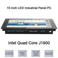 15 Inch LED Industrial Panel PC,Intel Celeron J1900,Windows 7/10/Linux Ubuntu,10 Points Capacitive Touch Screen,[HUNSN DA09W]