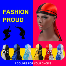 Unisex durag Floral Laser Silky Bandana Hat Durag hip hop headwrap Bandanas Doo DU-RAG Long Tail velvet