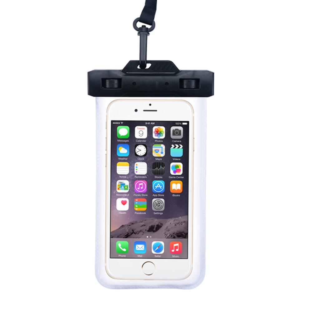 Outdoor Swimming Universal Underwater Pouch Cell Phones Waterproof Bag For Iphone X 6plus 7 8 All Models 6 Inch With Lanyard