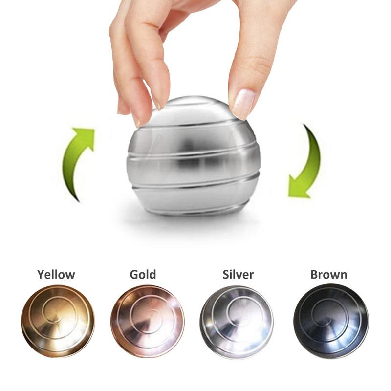 Desktop Decompression Rotating Spherical Gyroscope Kinetic Desk Toy Fidget Toy Optical Illusion Flowing Finger Toy for Adult