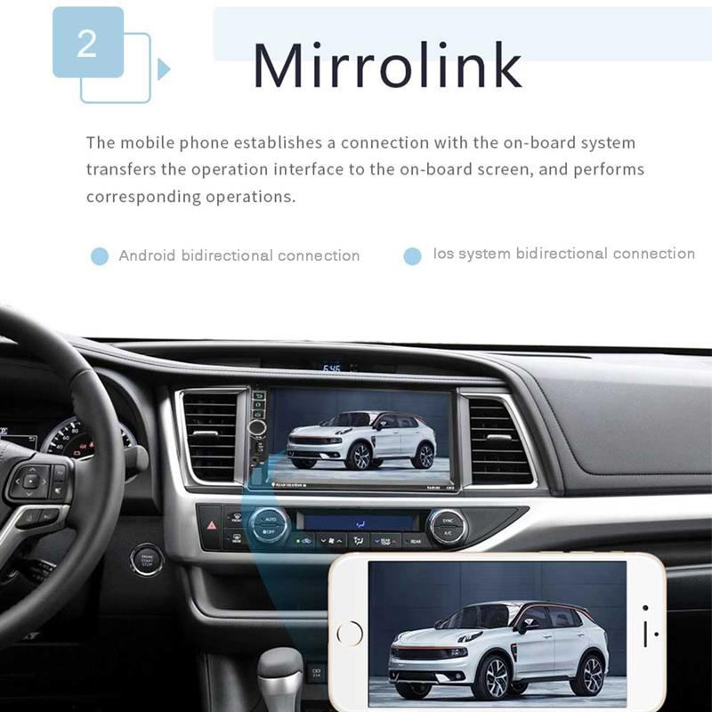 Lecteur autoradio Auto lecteur MP3 Radio Bluetooth GPS Navigation voiture stéréo entièrement capacitif écran tactile pour Android 8.1 - 4