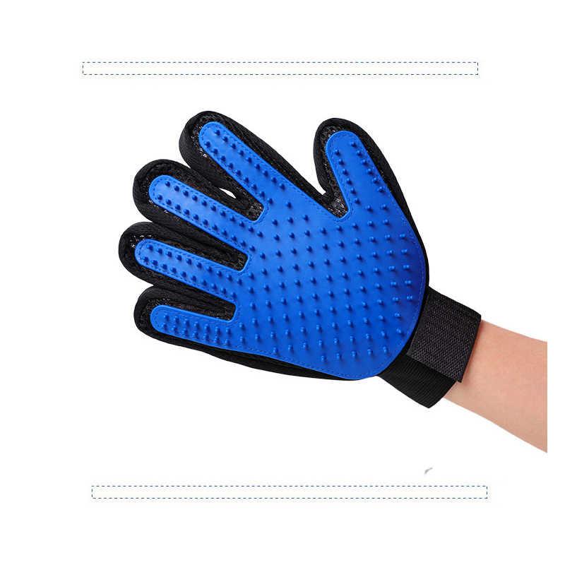 Новый стиль, силиконовая перчатка для ухода и чистки домашних животных, для удаления кистей левой/правой руки, собачья кошачья шерсть щетка для удаления гуманной ладони