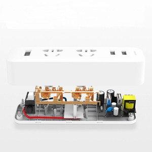 Image 4 - Original Xiaomi Mijia Power Strip Converter Portable Plug 2 USB Travel Adapter Electric Wall AC 5V 2.1A 2 Sockets Fast Charging