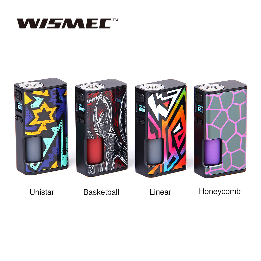 Wismec Luxotic Surface 80W Luxotic Surface Box MOD with 6 5ml Bottle Fits KESTREL Tank E