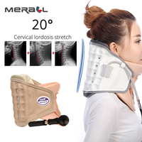 neck cervical traction device inflatable collar household Inflatable Cervical Neck Traction Massager Therapy Device Adjustable