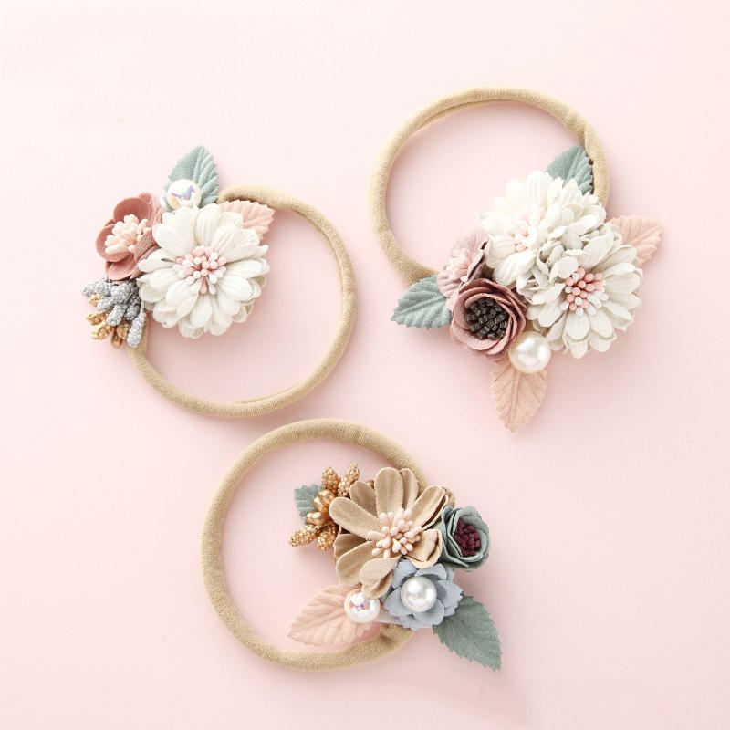 Wecute Baby Headband Bandeau Bebe Fille Princess Style  Fashion Flower Baby Hair Band Infant Toddler Kids Girl Hair Accessories